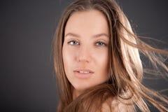 Wind. Portrait of attractive girl Stock Image