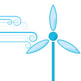 Wind power royalty free illustration