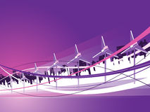 Wind Power. City with wind turbines for your text Stock Images