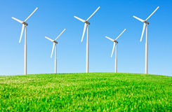 Wind power. On the background of the blue sky Royalty Free Stock Photography