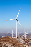 Wind Power. Larger windmills to generate electricity Royalty Free Stock Photography