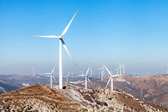 Wind Power. Larger windmills to generate electricity Stock Image