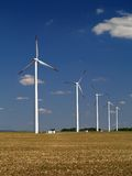 Wind power. Generators in Czech republic Stock Photos