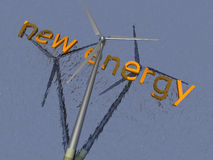 Wind power - 3D Royalty Free Stock Photos