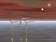 Wind power - 3D Stock Photography