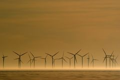 Wind power. Station for our future energy need Royalty Free Stock Image
