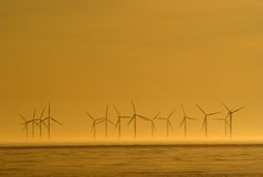 Wind power. Station for our future energy need Royalty Free Stock Images