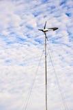Wind Power. Turbin against a cloudy sky Royalty Free Stock Photos