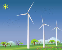 Wind power for alternative energy Royalty Free Stock Photos