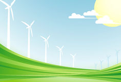 Wind power background Royalty Free Stock Photo