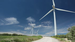 Wind power and blue sky Stock Photography