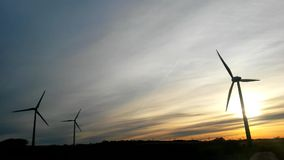 Wind Power with a blue sky