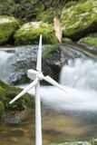 Wind power and brook Royalty Free Stock Photography