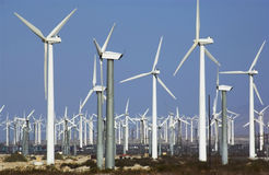 Wind Power - California - USA. A wind farm in the desert near Los Angeles in California in the USA Stock Photography