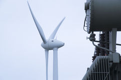 Wind power collection station Stock Photography