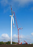 Wind power construction Stock Photos