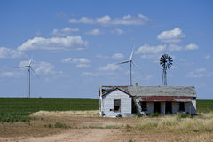 Wind power in the countryside Stock Image