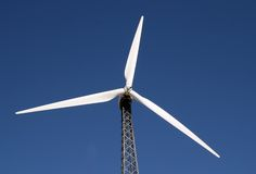 Wind Power. Created by propellers royalty free stock image