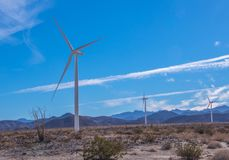 Wind power is clean energy stock photography