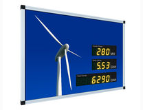 Wind power display - english Royalty Free Stock Photos