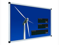 Wind power display - english (clipping path) Royalty Free Stock Photos
