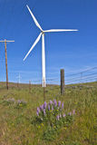 Wind power Eastern Washington. Royalty Free Stock Image