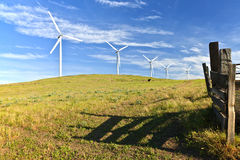 Wind power Eastern Washington. Royalty Free Stock Image