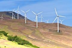 Wind power Eastern Washington. Royalty Free Stock Images