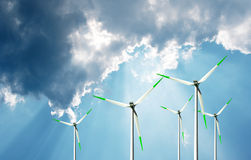 Wind power, eco energy Royalty Free Stock Images