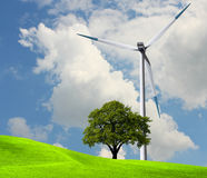 Wind power, ecology Stock Photos