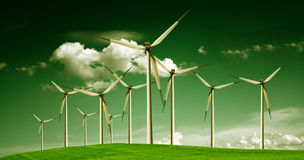 Wind power, ecology Stock Image