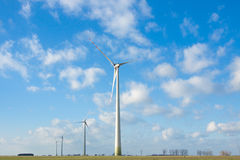 Wind power - electricity production. Day Royalty Free Stock Photography