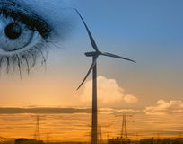 Wind power energy Stock Photography