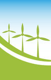 Wind power energy background Stock Image