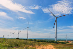 Wind power fans Royalty Free Stock Photos