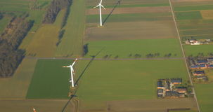 Wind Power Farm stock video