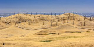 Wind Power Farm Royalty Free Stock Photography