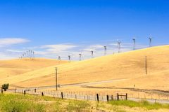 Wind Power Farm Stock Photo