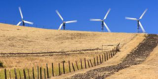 Wind Power Farm Royalty Free Stock Photo