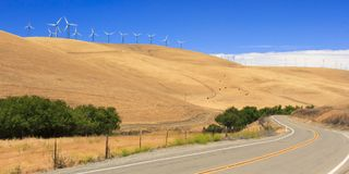 Wind Power Farm Stock Image