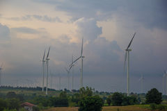 Wind power generation Stock Images