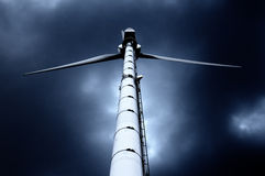 Wind Power Generator against Royalty Free Stock Photo