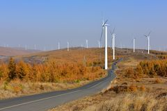 Wind power generator stock photos