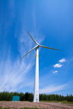 Wind power generator on the grassland Stock Image