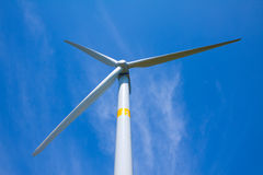 Wind power generator on the grassland Royalty Free Stock Image