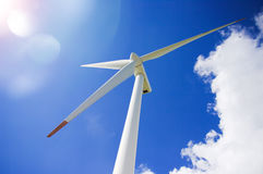 Wind power generator. In South Korea Stock Photography