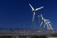 Wind power generators Royalty Free Stock Photos