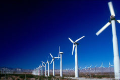 WIND POWER GENERATORS 2. Wind Power Generators in desert of California Royalty Free Stock Photos