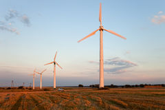 Wind power generators Stock Images