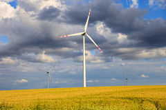 Wind power generators Stock Photography